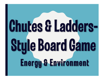 Spanish Energy and Environment Chutes and Ladders-Style Game