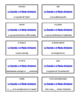 Spanish Energy and Environment Circle Puzzle