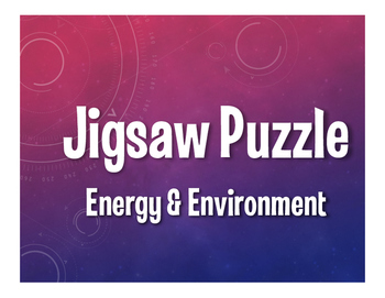 Spanish Energy and Environment Jigsaw Puzzle