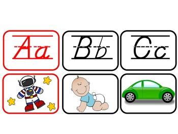BILINGUAL SET: D'Nealian Alphabet Charts {Correlate for Easy Transition!}