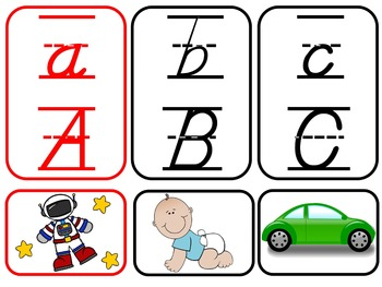 BILINGUAL SET: D'Nealian Alphabet Charts {Correlate for Easy Transition!}
