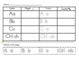 Spanish English Alphabet practice packet