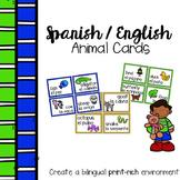 Spanish English Animal Cards