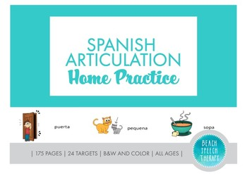 Spanish Articulation Home Practice