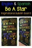 "Spanish & English ""Be A Star"" Inspirational Bulletin Board Set"