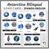 La Antártida - Antarctica Spanish Bilingual Vocabulary 3 P