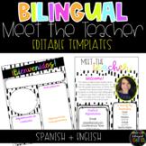 Spanish + English (Bilingual) Modern Meet the Teacher Temp