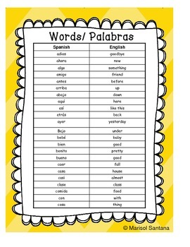 Spanish English Bilingual Word Wall First Grade Dual-Language ESL