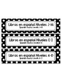 Spanish/English Book Bin Labels
