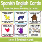 "Spanish English Bilingual Flashcards for Book ""Brown Bear,"