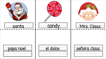 Spanish/English Christmas Interactive Notebook