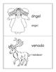 Spanish - English Christmas Vocabulary Coloring Mini-Book