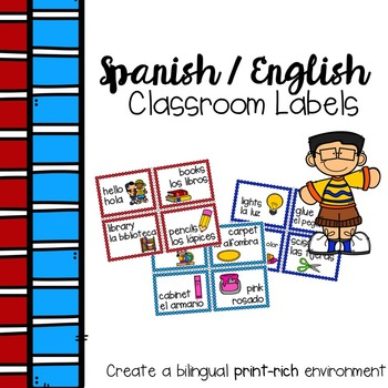 Spanish English Classroom Labels
