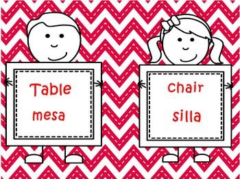 Spanish / English Classroom Signs