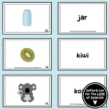 Spanish English Cognate Matching Cards - for  ESL ELL EFL
