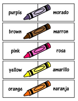 Spanish/ English Color Match Game