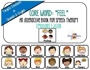 Spanish & English Core Vocabulary Book: FEEL