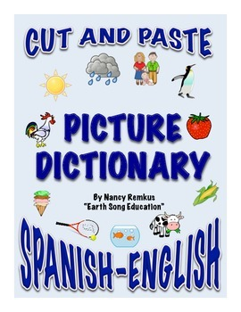 Spanish-English Cut and Paste Picture Dictionary: Create Y