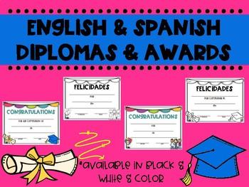 Spanish & English Diplomas & Certificates