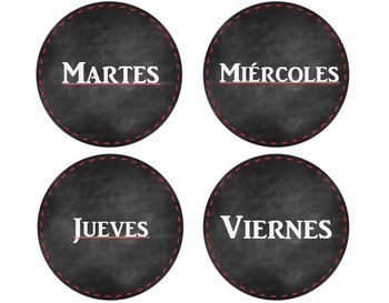 Spanish- English Dual Calendar Printables