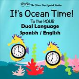 Spanish English Dual Language Telling Time, Write The Room Clocks!