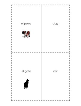 Spanish English Flashcards - Los animales / Animals #2