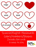 Spanish/English Flashcards  Colors - Shapes - Numbers #int