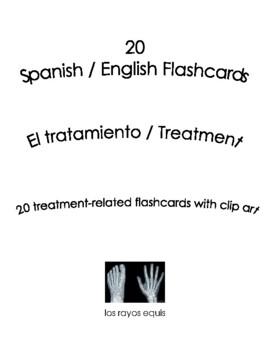 Spanish English Flashcards - El tratamiento / Treatment
