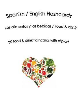 Spanish English Flashcards Food & Drink