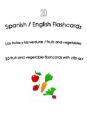 Spanish English Flashcards - Fruits and Vegetables