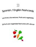 Spanish English Flashcards - Las frutas y las verduras / F