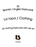 Spanish English Flashcards - La ropa / Clothing