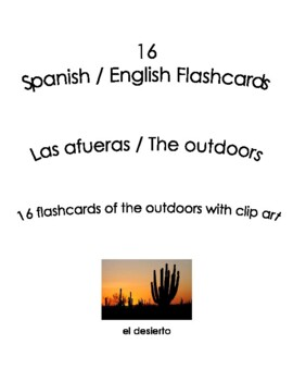Spanish English Flashcards - Las afueras / the outdoors
