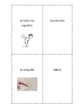 Spanish English Flashcards - Las enfermedades / Illnesses