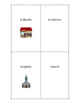 Spanish English Flashcards - Los edificios / Buildings