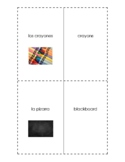 Spanish English Flashcards Las Cosas en la clase / Things