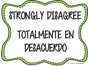 Spanish/English Four Corners Posters {Freebie}