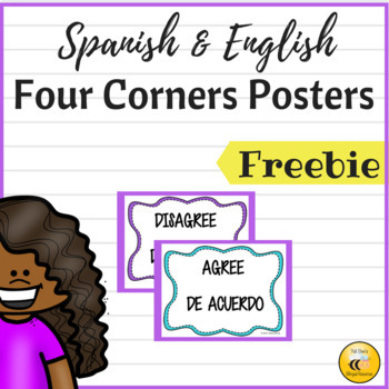 Spanish/English Four Corners Posters {Freebie}