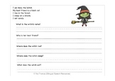 Spanish/English Halloween Speech Therapy Worksheets