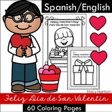 "Spanish/English, ""How to Make a Valentine"" Coloring Pages."