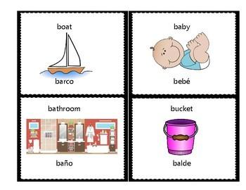 Spanish English Initial Consonant Flashcards - Emergent Bilingual Literacy