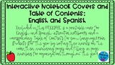 Spanish/English Interactive Notebook