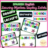 Spanish English Learning Objectives Display Labels