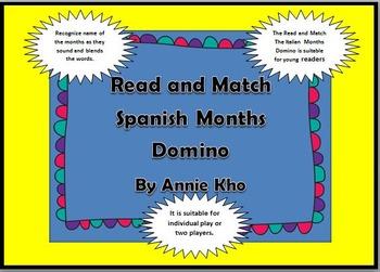 Spanish/English Months Domino