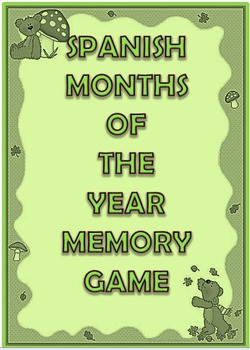 Spanish/English Months of the Year Memory Card