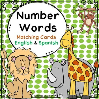 Spanish & English Number Matching Cards / Zoo Theme / Montessori Style  Hands-on