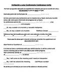 Spanish English Parent Conference Invite Bilingual Immersion