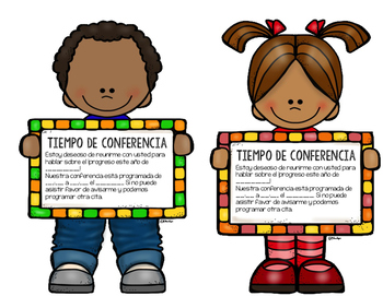 Spanish/English Parent Conference Time Reminder
