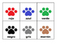 Spanish/English Paw Print Color Cards