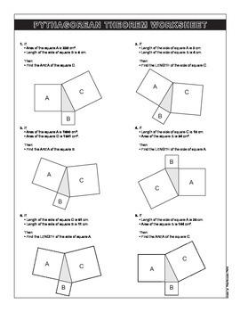 Spanish - English Pythagorean Problems Worksheet